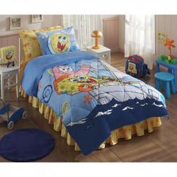 Покрывало хлопковое Tac Disney подростковое - Sponge Bob Boat