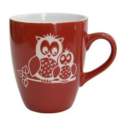 Кружка 400мл Milika Owl Family Red M0420-M3R