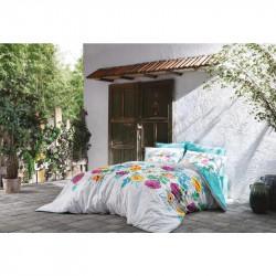 Постельное белье евро Tac Bamboo Digital - Belize sari