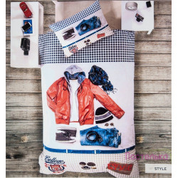 Постельное белье полуторное Deco Bianca ранфорс - Style 3D