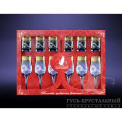 Набор бокалов 12пр декор с рисунком Мускат GE05-160/837 Гусь хрустальный