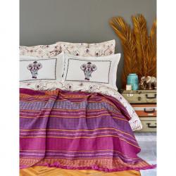 Набор постельное белье с пледом Karaca Home евро - Maresa 2018-1