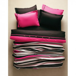 Постельное белье евро Karaca Home с пледом - Thin розовое