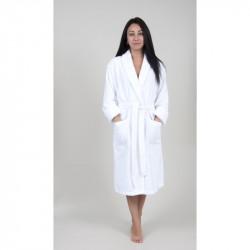 Халат махровый Tac S/M бамбук - Maison 3D fildisi белый