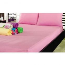 Простынь на резинке 180х200 Varol - Cotton castle розовая