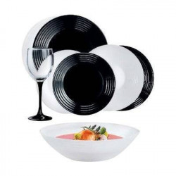 Сервиз столовый 24пр Luminarc Harena Black&White N2243