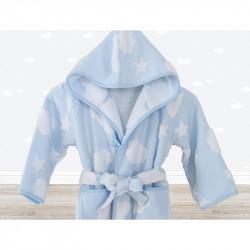 Халат детский Irya - Cloud голубой 5-6 года