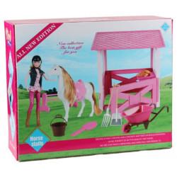 Лошадь с куклой MZT8986