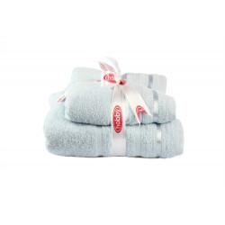 Набор полотенец махровых 50х90+70х140 Hobby - Nisa голубой