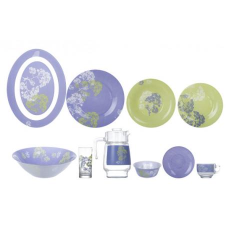 Сервиз столовый 46пр Luminarc Purple Mix&Mat N4799