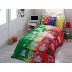 Комплект постельного белья полуторный Hobby 3DPoplin - Tweet