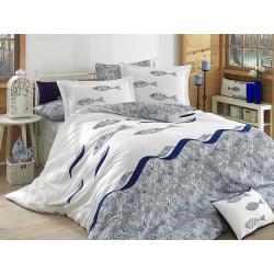 Комплект постельного белья полуторный Hobby Poplin - Blues голубой