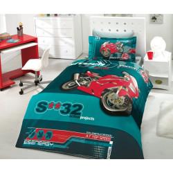 Комплект постельного белья полуторный Hobby Poplin - Extreme зеленый