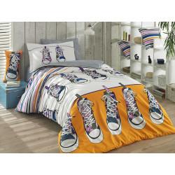 Комплект постельного белья полуторный Hobby Poplin - Layla желтый