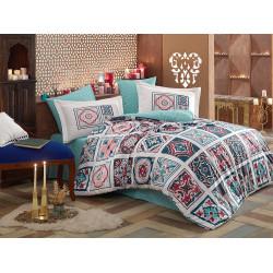 Комплект постельного белья евро Hobby Poplin - Mozaique голубой