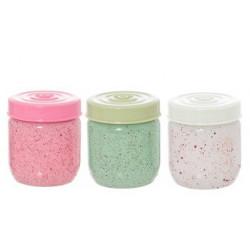 Банка 425мл Herevin White-Green-Pink 145557-000