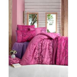 Комплект постельного белья полуторное LightHouse Oyku бордовый