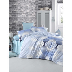 Комплект постельного белья полуторное LightHouse Petek голубой