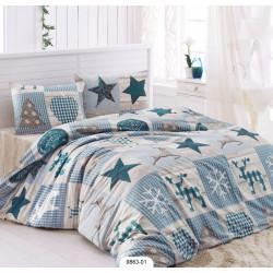 Комплект постельного белья полуторное LightHouse Stars голубой