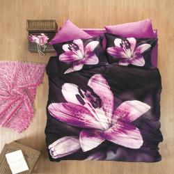 Постельное белье евро Luoca Patisca 3D sateen Pink Lily