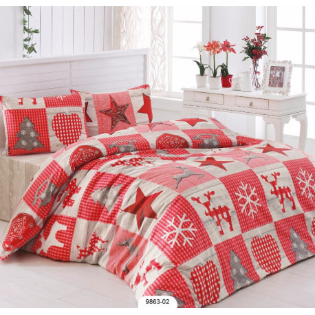 Комплект постельного белья евро LightHouse Stars красное