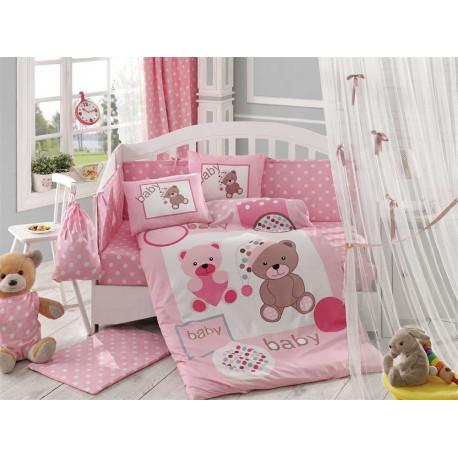 Постельное белье детское Hobby Ponpon розовое