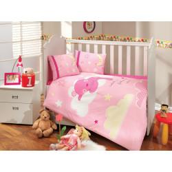 Постельное белье детское Hobby Sleeper розовое