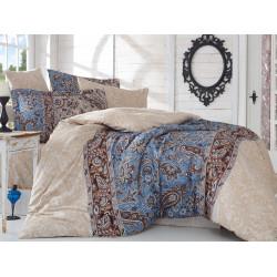 Комплект постельного белья семейный Hobby Exclusive Sateen - Caterina бежевый