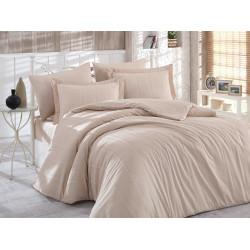 Комплект постельного белья евро Hobby Exclusive Sateen Diamond - Stripe бежевый