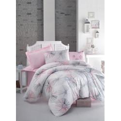 Постельное белье евро Luoca Patisca Elissa розовое
