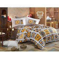 Постельное белье полуторное Hobby Poplin - Mozaique желтое