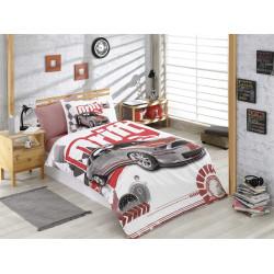 Комплект постельного белья полуторный Hobby Poplin - Drift красный