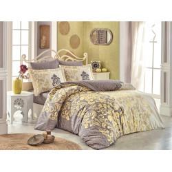 Комплект постельного белья полуторный Hobby Poplin - Mirella капучино