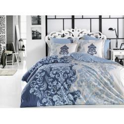 Комплект постельного белья евро Hobby Poplin - Mirella синий