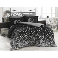 Комплект постельного белья евро Hobby Poplin - Stars серый