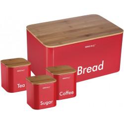 Хлебница+3 банки Kinghoff KH1085
