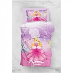 Постельное белье для подростков 160х220 Eponj Home 3D Micro Satin - Leena Lila