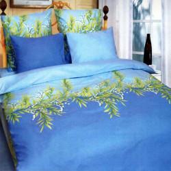 Постельное белье полуторное ТЕП 653 Ландыши голубые