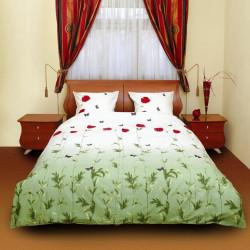 Постельное белье семейное ТЕП 533 Маки зеленые
