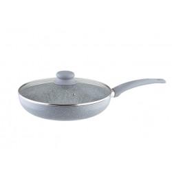 Сковорода с крышкой 26см Vinzer Stone line induction 89420