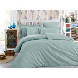 Комплект постельного белья семейный Hobby Exclusive Sateen Diamond - Stripe мята