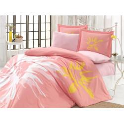 Комплект постельного белья евро Hobby Poplin - Romana персиковый