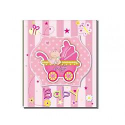 Фотоальбом на 200 фотографий размером 10x15см EVG BKM46200 Baby car pink