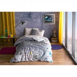 Постельное белье 160х220 подростковое Tac Ranforce Teen - Connect серый