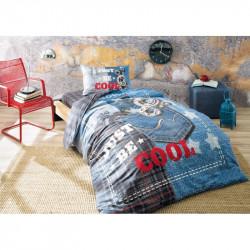 Постельное белье 160х220 подростковое Tac Ranforce Teen - Cool голубой