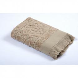 Полотенце махровое 70х140 Tac Royal Bamboo Jacquard - S. Kahve
