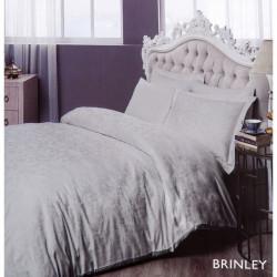 Постельное белье евро Tac жаккард - Brinley серый