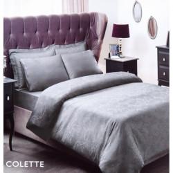 Постельное белье евро Tac жаккард - Colette серый