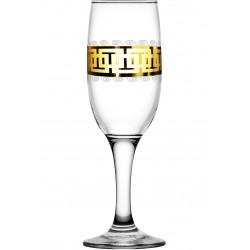 """Бокал для шампанского 190мл/6 (Бистро) декор """"Меандр"""" EAV26-419 Гусь хрустальный"""