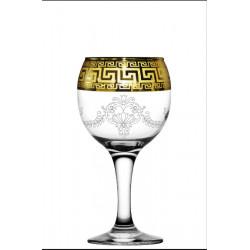 """Бокал для вина 260мл/6 (Бистро) декор """"Барокко"""" EAV63-411 Гусь хрустальный"""